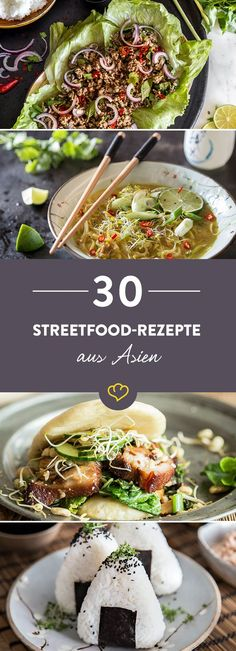 Folge dem Duft der Gewürze: 30 Asia Streetfood-Rezepte - Atıştırmalıklar - Las recetas más prácticas y fáciles Salmon Recipes, Fish Recipes, Vegetable Recipes, Asian Recipes, Healthy Recipes, Asian Street Food, Mets, Cauliflower Recipes, Sausage Recipes