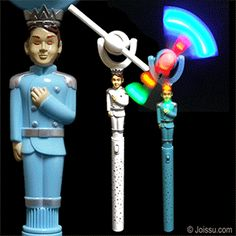 LIGHTUP PRINCE WINDMILLS. Just slide the button to see the moveable windmill flash and turn. Assorted colors. Each polybagged. Perfect for Christmas stocking stuffers and party favors. Size 15 Inches
