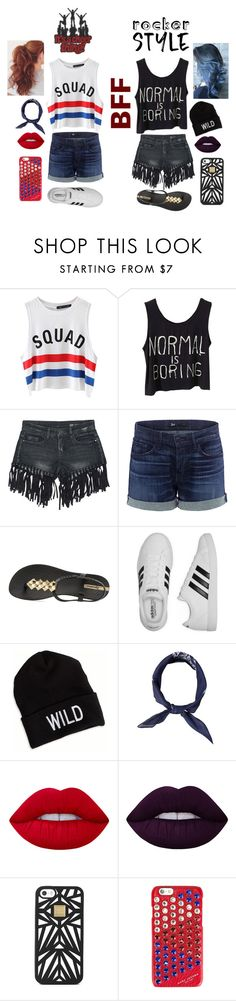 """Bff"" by mysterious-gal ❤ liked on Polyvore featuring Chicnova Fashion, Sans Souci, 3x1, IPANEMA, adidas, American Eagle Outfitters, Lime Crime, Hervé Léger and Marc Jacobs"