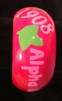 AKA Alpha Kappa Alpha bracelet painted by AddiCakeCreations, $7.99
