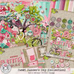 Sweet Summer's Day {Collection} - $9.00 : Digital Scrapbooking Studio Digital Scrapbook Paper, Kit, 4 Kids, Scrapbook Supplies, Summer Kids, Really Cool Stuff, Gift Wrapping, My Favorite Things, Artist