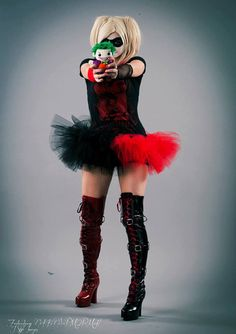 Hey, I found this really awesome Etsy listing at http://www.etsy.com/listing/113476084/harley-quinn-adult-tutu-mini-micro-black