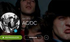 Des de la semana pasada ya está disponible en Spotify al discografía completa de la banda australiana AC/DC.