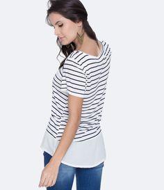 da09e501f 99 melhores imagens de Idéias roupas femininas | Blouses, Stripes e ...