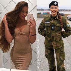 50 Beautiful Army Women With & Without Uniform Looking Stunning #army #womensfashion #clothing Idf Women, Military Women, Female Army Soldier, Military Girl, Girls Uniforms, Beautiful Women, American, Lady, Womens Fashion