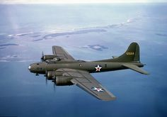 B-17 Flying Fortress making its way to England.