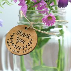 Add these #Personalized Thank you tags  to your Wedding gift bags or centerpieces for that thoughtful touch!