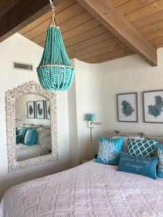 Turquoise chandelier DIY