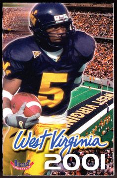 2001 WEST VIRGINIA UNITED BANK FOOTBALL POCKET SCHEDULE FREE SHIPPING #Schedule
