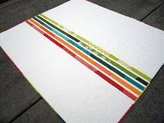 Quilt back: adding stripes gives you the extra inches you need without having to buy more yardage and it adds great color Fun way to save Money!