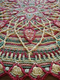 Ravelry: tintocktap's Sunrise overlay crochet mandala