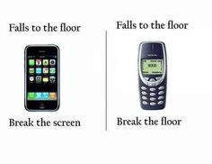 Phones Back then #BreakingBad, #Floor, #Funny, #IPhone, #MobilePhone, #Nokia