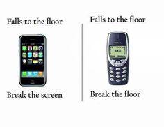Phones Back then #BreakingBad, #Floor, #Funny, #IPhone, #MobilePhone, #Nokia