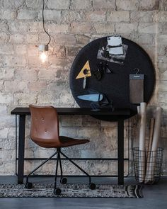 Primum Chair, Hemingway desk and Layer It bulletin board designed by Anne Boysen
