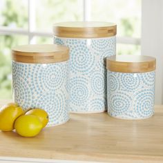 Birch Lane Wilshire 3-Piece Canister Set & Reviews | Wayfair