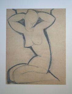 Amedeo Modigliani - Cariatide 1914