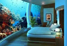 aquarium; bedroom