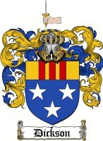 Dickson Coat of Arms / Scottish / Dickson Family Crest  Dickson Coat of Arms / Dickson Scottish Family Crest / Dickson Clan Crest