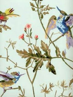 DecoratorsBest - Detail1 - CS 62/1004 - HUMMINGBIRDS-RUBAN - Wallpaper - DecoratorsBest