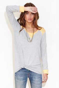 Townsen Color Block Fleece Top