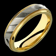 Mens Womens Two-Tone Comfort Fit Solid Gold (not plated) Wedding Band Fashion Ring USD White Gold Wedding Bands, Wedding Band Sets, White Gold Rings, Mens Ring Designs, Wedding Ring Designs, Gold Jewellery Design, Gold Jewelry, Titanium Rings, Plaque