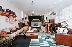 17 salas grandes inegradas com home theater, cozinhas ou até garagem. Todas de Casa Cor 2011.