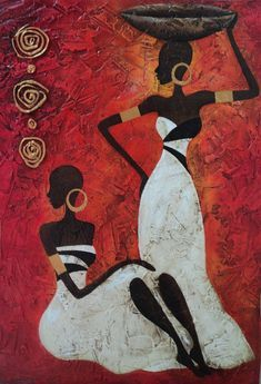 Ideas For Painting Woman Abstract American Art African Drawings, African Art Paintings, African Artwork, African American Artwork, Image Deco, Afrique Art, Black Artwork, African Quilts, Tribal Art