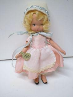 Nancy Ann Storybook Doll 130 Dainty Dolly Pink and Blue w/box and wrist tag #NancyAnnStorybook