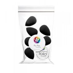 Beauty Blender Pro Pac 6 Black sponges with Solid Cleanser
