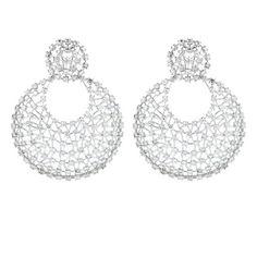 Fan Dèsir   18K White Gold Earrings Gold: 21.90 gms Diamonds: 10.90 cts