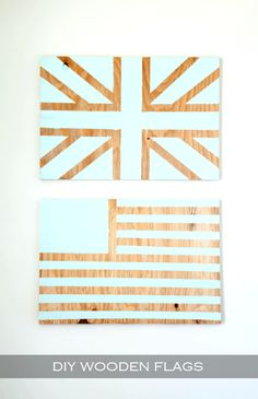 DIY Wooden Flags on