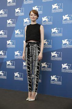 Emma Stone in Proenza Schouler (Venecia Festival 2014)