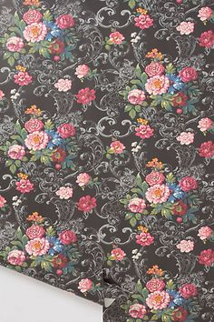 just bought this wallpaper for the accent wall in my room. Venetian Bouquet Wallpaper #anthropologie