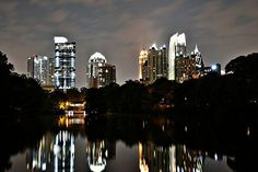Midtown Atlanta via Piedmont Park.  Getting excited.  :)