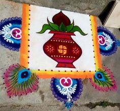 Discover beautiful diwali rangoli designs for your house. These simple rangoli designs can be made during festivals like Dussehra, Ugadi and Holi too. Easy Rangoli Designs Videos, Indian Rangoli Designs, Rangoli Designs Latest, Rangoli Designs Flower, Rangoli Ideas, Rangoli Designs Images, Rangoli Designs With Dots, Flower Rangoli, Beautiful Rangoli Designs