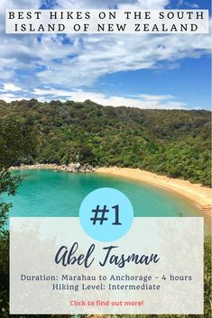 New Zealand is the best place on earth to go go hiking. Check out these 5 awesome day hikes on the South Island of New Zealand. Travel Abroad, Travel Tips, Travel Destinations, Travel Hacks, Abel Tasman, Great Walks, New Zealand Travel, Best Hikes, South Island
