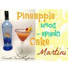 Pineapple Upside-Down Cake in a Glass  Can't wait to make it at home! I had it at a bar and loved it!!