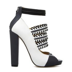 Sakiko white & black chunky heels - gx by Gwen Stefani from #ShoeDazzle