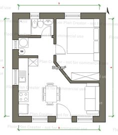 18 Ideas container house plans layout small spaces for Pin by Nick Timmins on small house Small Apartment Interior, Apartment Layout, Tiny House Layout, House Layouts, Bungalow, Autocad Layout, Small Cottage Designs, Tiny Studio Apartments, Small House Floor Plans