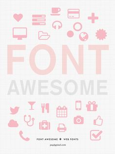 Font Awesome - web based font and vector based icons for use on your website