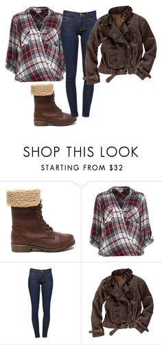 """fall woodsy look"" by tracie-renae on Polyvore featuring River Island, Frame Denim and Madewell"