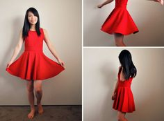 "Skater dress DIY -- crop top + circle skirt ""cheat""!"