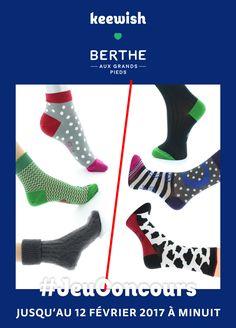 Du 6 au 12 Février tente de gagner 3 paires de chaussettes de caractère ! Une touche de couleur, une pincée d'humour et beaucoup d'amour ! Qualité 100% made in France et créativité. Pour participer c'est simple : partage ce post et choisis un ton lot (homme ou femme) en cliquant sur le lien ! Nous désignerons les 2 gagnants le 13 Février. Bonne chance ! #iwish #MadeinFrance #gift #cadeau #SaintValentin #EPV