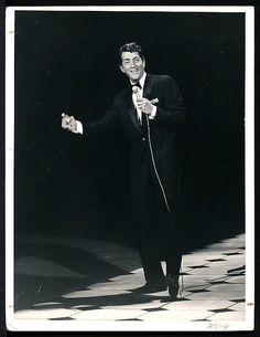 1960's Original Photo DEAN MARTIN Rat Pack Star & 'King of Cool' on Stage