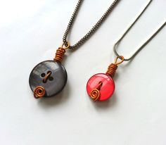 Make Simple Button Pendants.. these would make great teacher gifts!