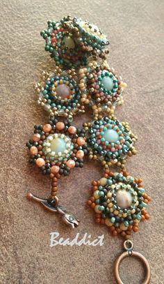 Pattern: Beaddict   Center beads: amazonite stone beads     You can download my pattern of this set free from  here .    ...