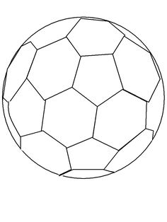 soccer ball coloring page szablony pinterest soccer ball