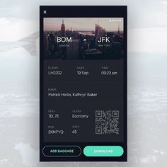 Awesome flight app prototype by Jekin Gala on @dribbble . . . . . . #uxigers #ux #ui #design #designer #userinterface #userexperienxe #usability #web #simple #minimal #dribbble #uxdesign #uidesign #COBE #cobelicious #cobeisfresh