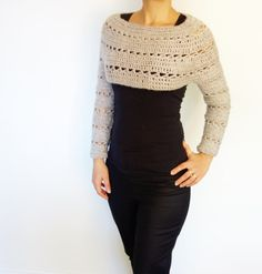Crochet Pattern Caramel Cropped Sweater/ Chunky door CamexiaDesigns