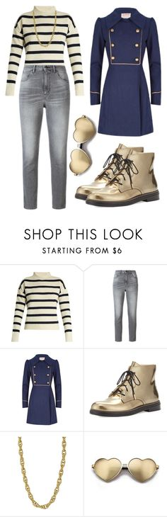"""Hannie Shipkin Hipsters on Broadway"" by attendthetale ❤ liked on Polyvore featuring Tabula Rasa, Golden Goose, Jimmy Choo and Wildfox"